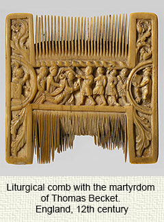 Medieval liturgical comb