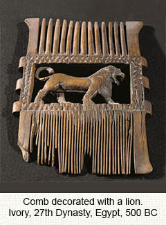 Egyptian ivory comb
