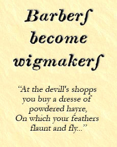 barbers become wigmakers