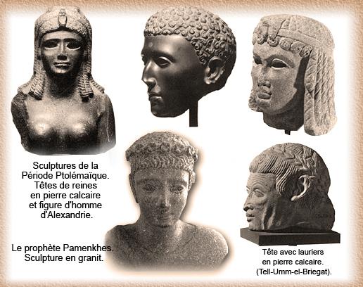 Durant la dernière période dynastique, de l\u0027année 305 Av JC à 30 Av JC,  quand les Ptolémées ont gouverné, on peut voir un changement important dans  les