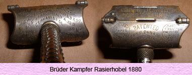 Las primeras máquinas rasuradoras se cree que fueron desarrolladas en  Alemania por los hermanos Kampfer 5b09beec661e
